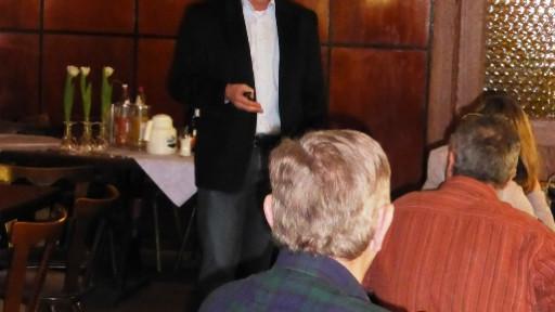Heinz Werner Schade, technischer Aufsichtsbeamter vom Regierungspräsidium Kassel, geht auf die Sozialvorschriften im Straßenverkehr ein.